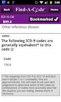 Screenshot of Find-A-Code ICD10/ICD9 +GEMs