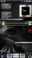 Screenshot of Metal Look Clock widget