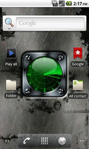 Radar Clock free livewallpaper