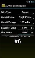 Screenshot of Wire Size ★ Ad Free Calculator