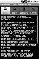 Screenshot of NY Vehicle and Traffic Code