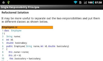 Screenshot of Principles of Class Design