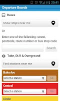 Screenshot of London Transport Planner