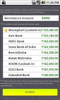 Screenshot of Rupee Forex Exchange Rates