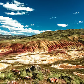 Painted Hills by Earl Heister - Landscapes Mountains & Hills