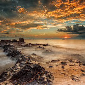 Angry Beach by Gunarto Song  - Landscapes Sunsets & Sunrises