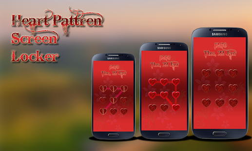 Heart Pattern Screen Locker - screenshot