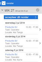 Screenshot of Mijn Randstad Planning