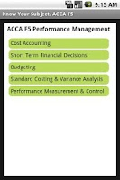 Screenshot of ACCA F5 Performance Management