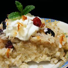 Coconut-Raisin Rice Pudding