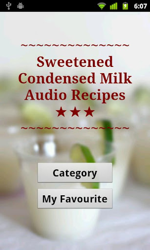 Condensed Milk Audio Recipes