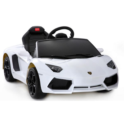 acheter voiture lectrique lamborghini aventador blanche venette chez kiddi quad dilengo. Black Bedroom Furniture Sets. Home Design Ideas
