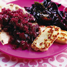 Minted Beetroot With Haloumi Cheese