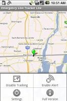 Screenshot of Emergency Live Tracker Lite