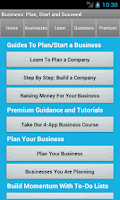 Screenshot of Business Plan & Start Startup