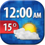 Cool Weather Clock Widget APK Image