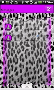 GO SMS THEME/LovePurpleLeopard - screenshot