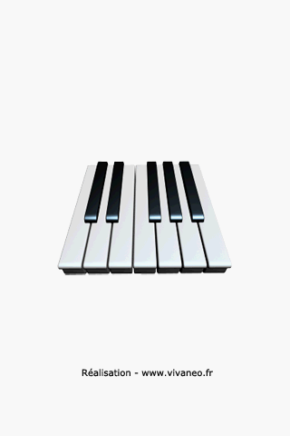 仮想ピアノキーボード