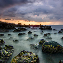 The Land of the black rocks by Dikky Oesin - Landscapes Caves & Formations