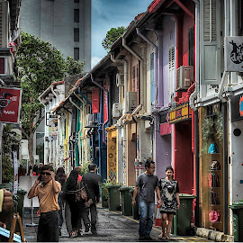 vibrant arab street by Lloyd Albert Manto - City,  Street & Park  Street Scenes ( urban, lloydmanto, arabstreet, cities, lomhanz, colors, streets, singapore )