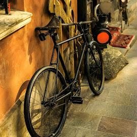 Old bicycle by Piotr Owczarzak - Transportation Bicycles ( old, bike, vintage, street, warsaw, poland )