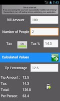 Screenshot of Tip Calculator Classic