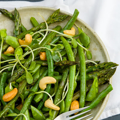 Spring Salad with White Balsamic Basil Vinaigrette