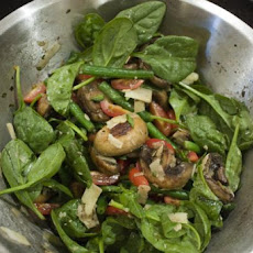 Barbecue /Bbq Mushroom and Green Bean Salad