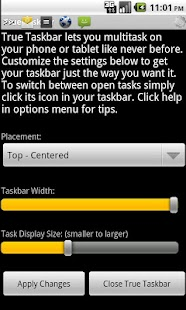True Taskbar Demo - screenshot