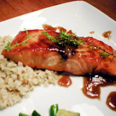 Salmon with Bourbon Glaze
