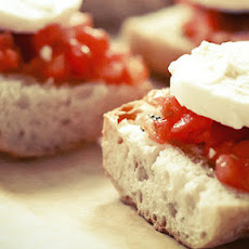 Bruschetta With Buffalo Mozzarella And Tomatoes