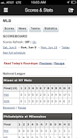Screenshot of MJS Baseball