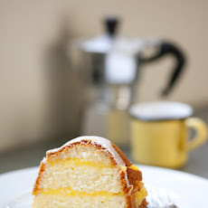 Gluten-Free Layered Lemon Pound Cake with Meyer Lemon Curd