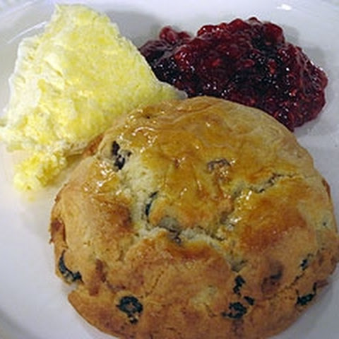 Fruit Scones With Raspberry Jam And Clotted Cream