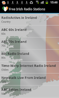 Screenshot of Irish Radio Music & News