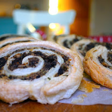 Black Pudding And Stuffing Sausage Roll Spirals