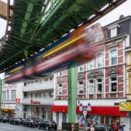 Wuppertal by Merina Tjen - Lim - City,  Street & Park  Street Scenes ( wuppertal; rail; train; tram; street )