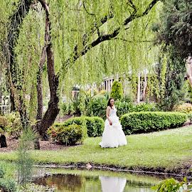 Reflecting by Alan Evans - Wedding Bride ( reflection, wedding photography, ballarat wedding photographer, wedding day, wedding, aj photography, bride, ballarat )