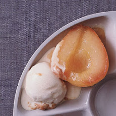 Caramelized Pears with Dulce de Leche Ice Cream