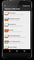 Screenshot of Espresso Coffee Guide