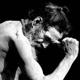 Indian Sadhu by Suvrajit Dutta - People Portraits of Men