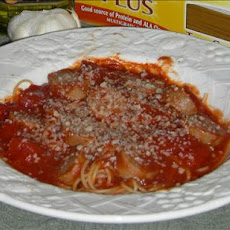Sweet Italian Sausage With Red Gravy and Pasta