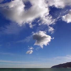Palisier Bay by Dragan Keca - Landscapes Cloud Formations ( water, clouds, sky, blue, ocean,  )
