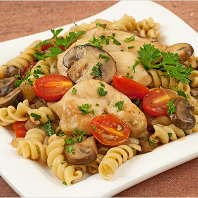 Chicken with Marsala, Tomatoes and Mushrooms