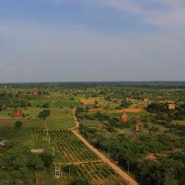 BAGAN Ancient city by Thura Soe - Landscapes Travel ( myanmar, peaceful, pagoda, beautiful, land, landscape photography, travel, landscapes, bagan, landscape, travel photography )