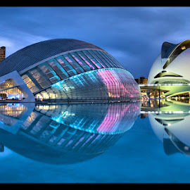 Valencia, Spain by Jerzy Szablowski - Travel Locations Landmarks ( cool, tourist, pwclandmarks, blue, valencia, calatrava, spain )
