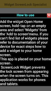 Widget Screen Lock Specialist - screenshot