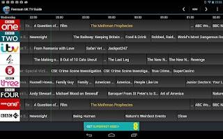 Screenshot of Feersum UK TV Guide