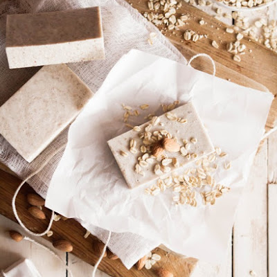 Homemade Oatmeal Almond Soap