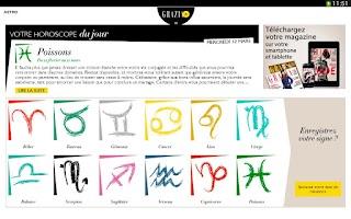 Screenshot of Grazia.fr